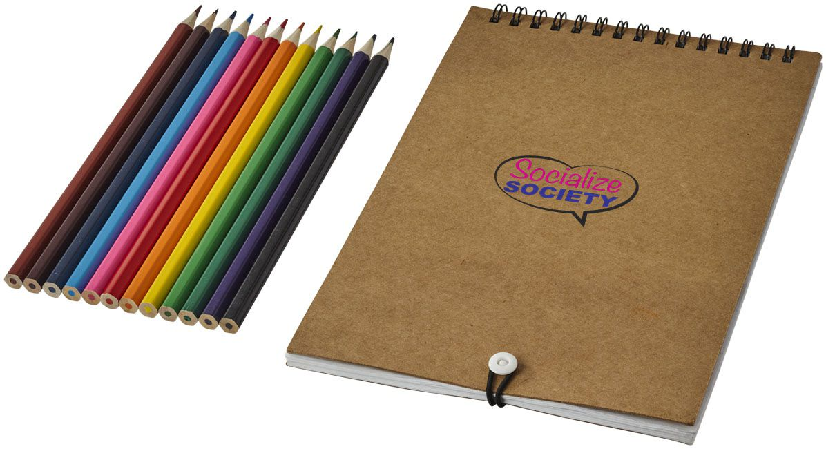 Set de coloriage Claude - crayons de couleur publicitaires