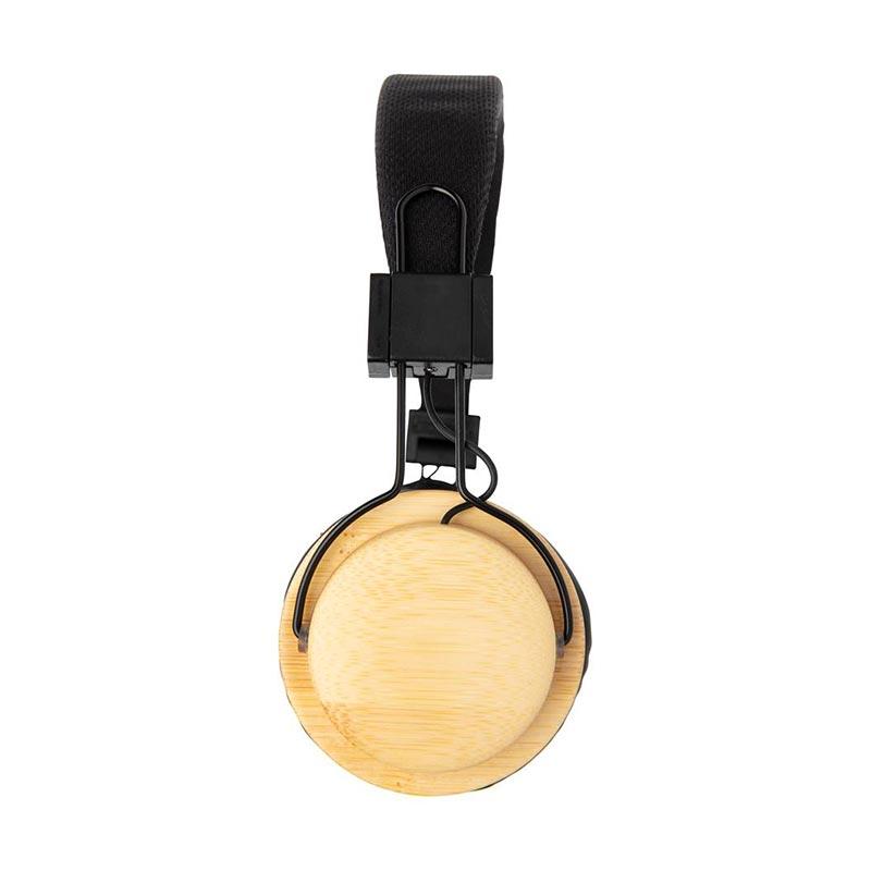 Casque audio sans fil en bambou Liberwood - Cadeau d'affaires écologique