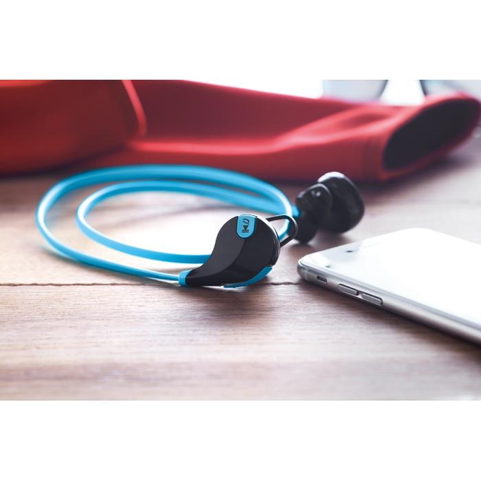 Cadeau publicitaire - Écouteurs publicitaires Bluetooth Rockstep - bleu