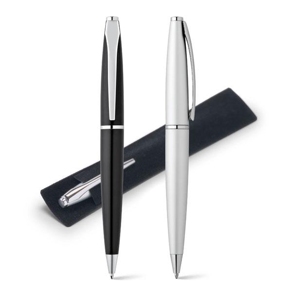 Stylo publicitaire en métal Deli noir - stylo personnalisable