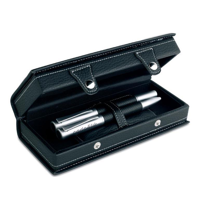 Set de stylos en métal publicitaires dans coffret