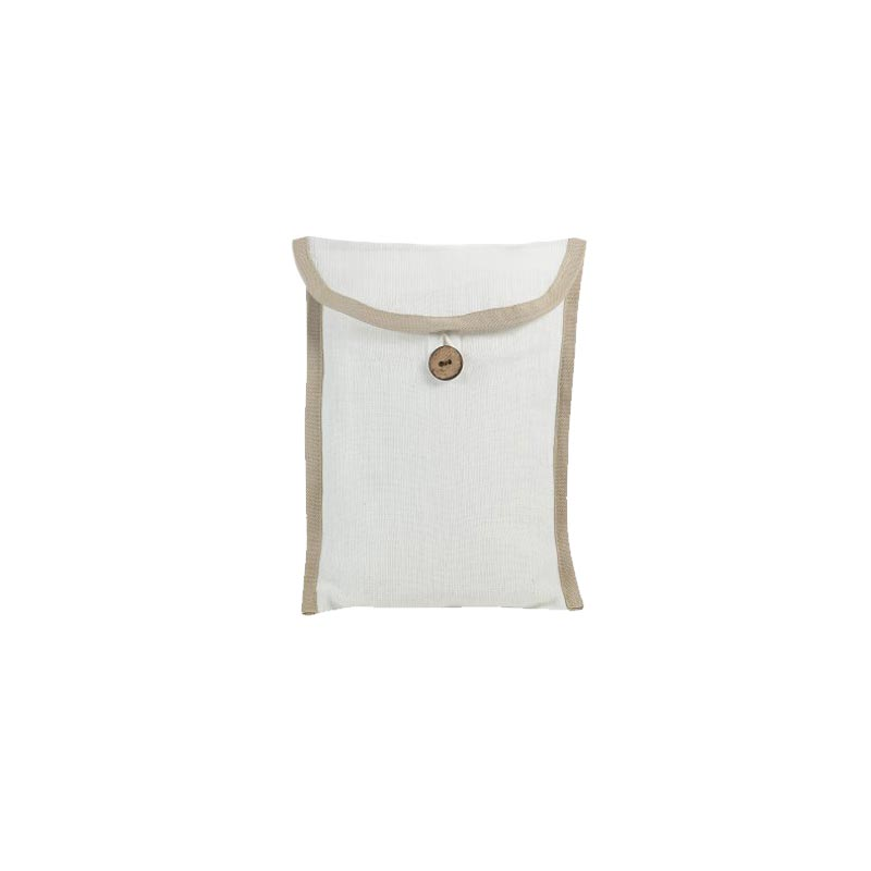 Pochette personnalisable pour foulard - beige