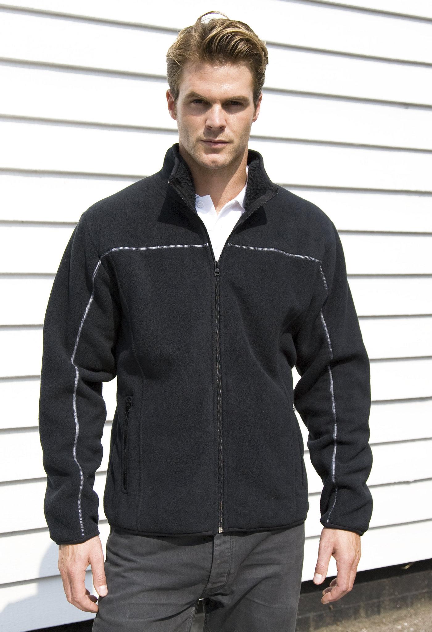 Veste polaire personnalisable Huggy noire - veste polaire publicitaire