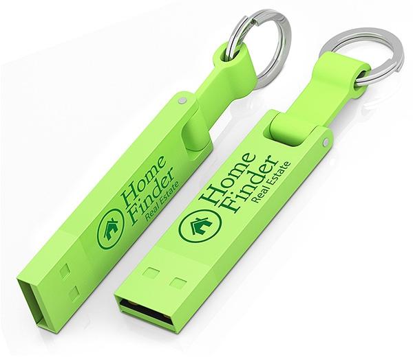Clé USB publicitaire Iron Elegance C - Clé USB personnalisable - vert