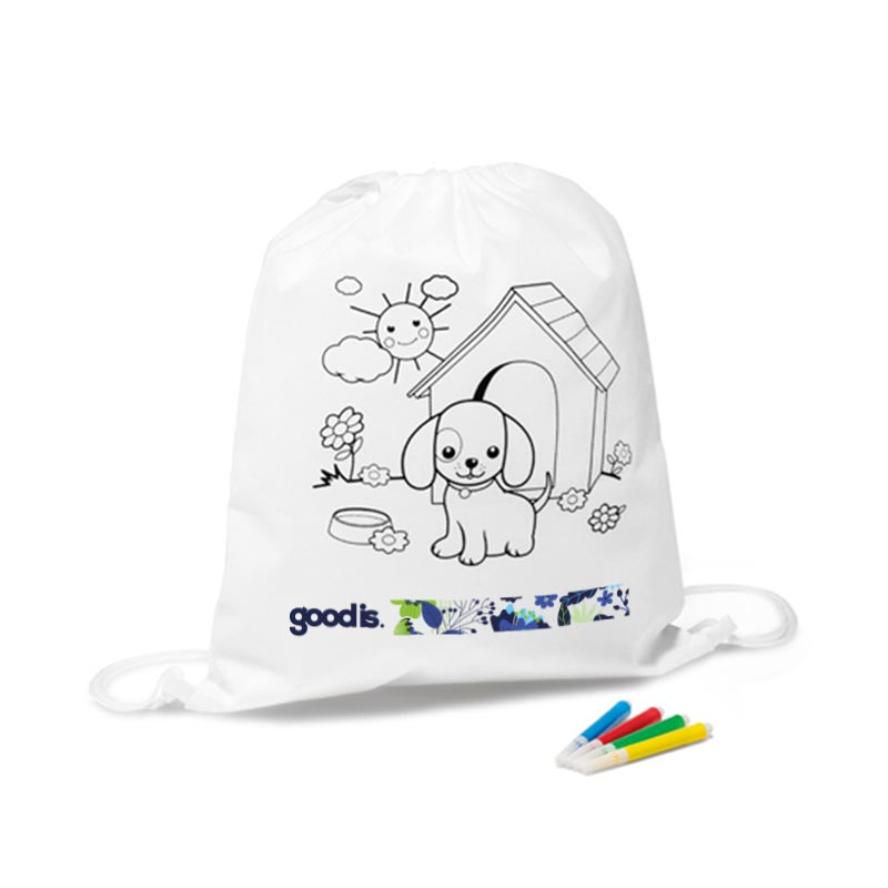 Cadeau promotionnel - Sac à dos à colorier Snoopy