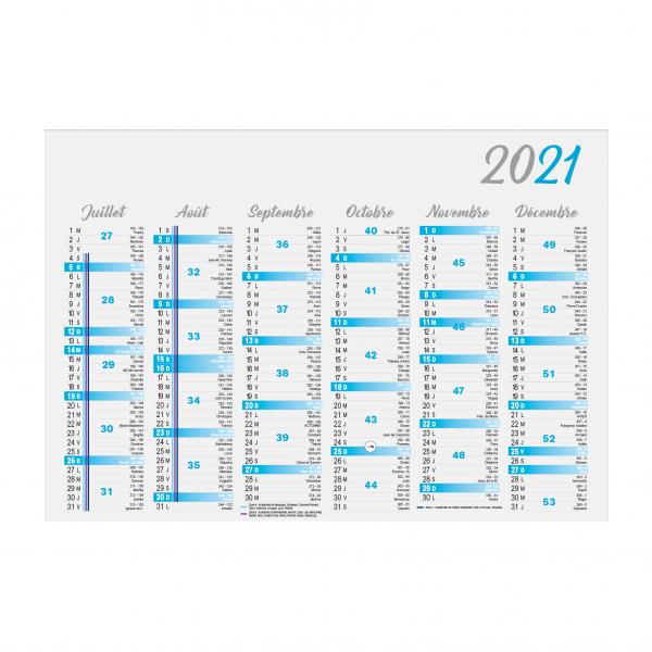 Calendrier publicitaire bancaire Cartonné Standard 2021