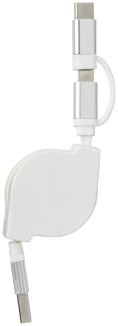 Cadeau publicitaire - Câble de chargement publicitaire 3 en 1 C One +