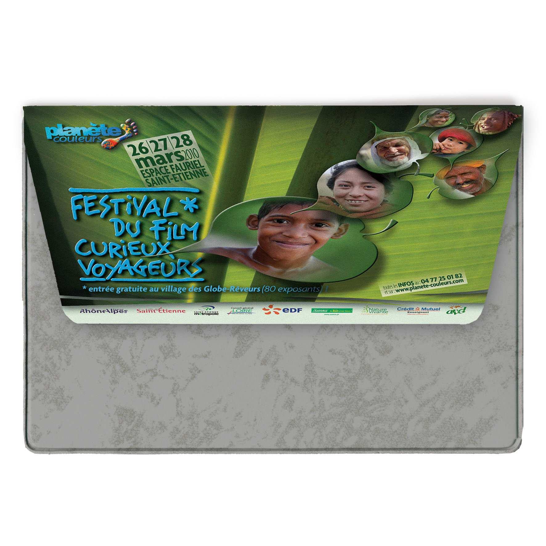 Cadeau promotionnel - Pochette de voyage publicitaire 1 poche A5