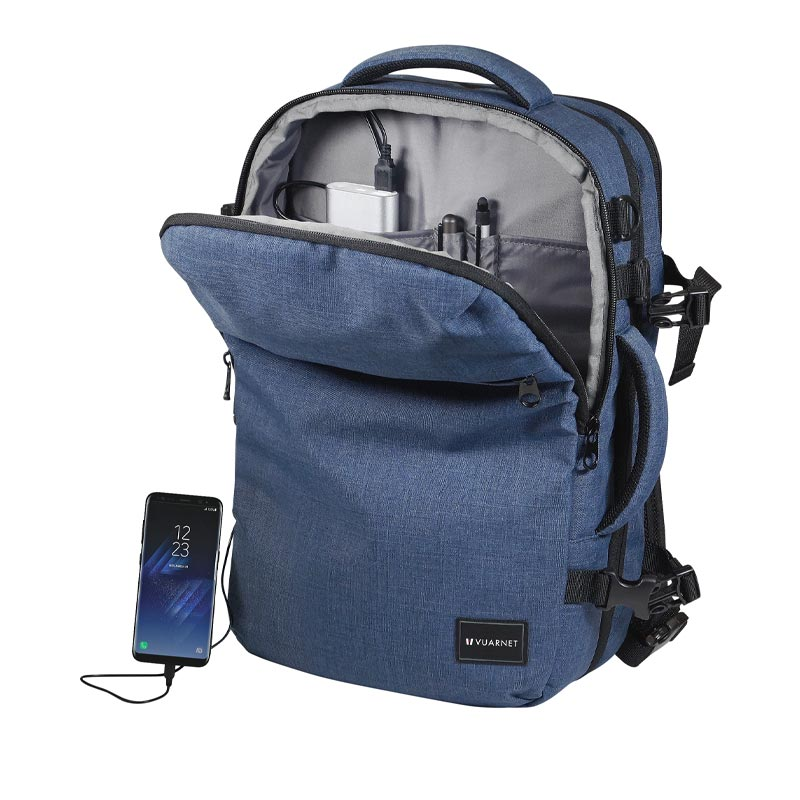 Besace/sac à dos VUARNET TRAVELINK personnalisé et ultra connecté