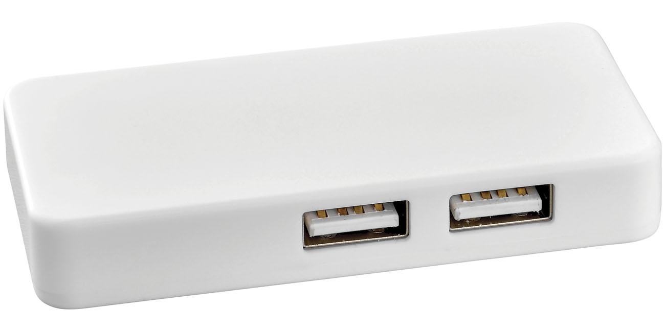 Hub USB avec cable dual - objet publicitaire high-tech