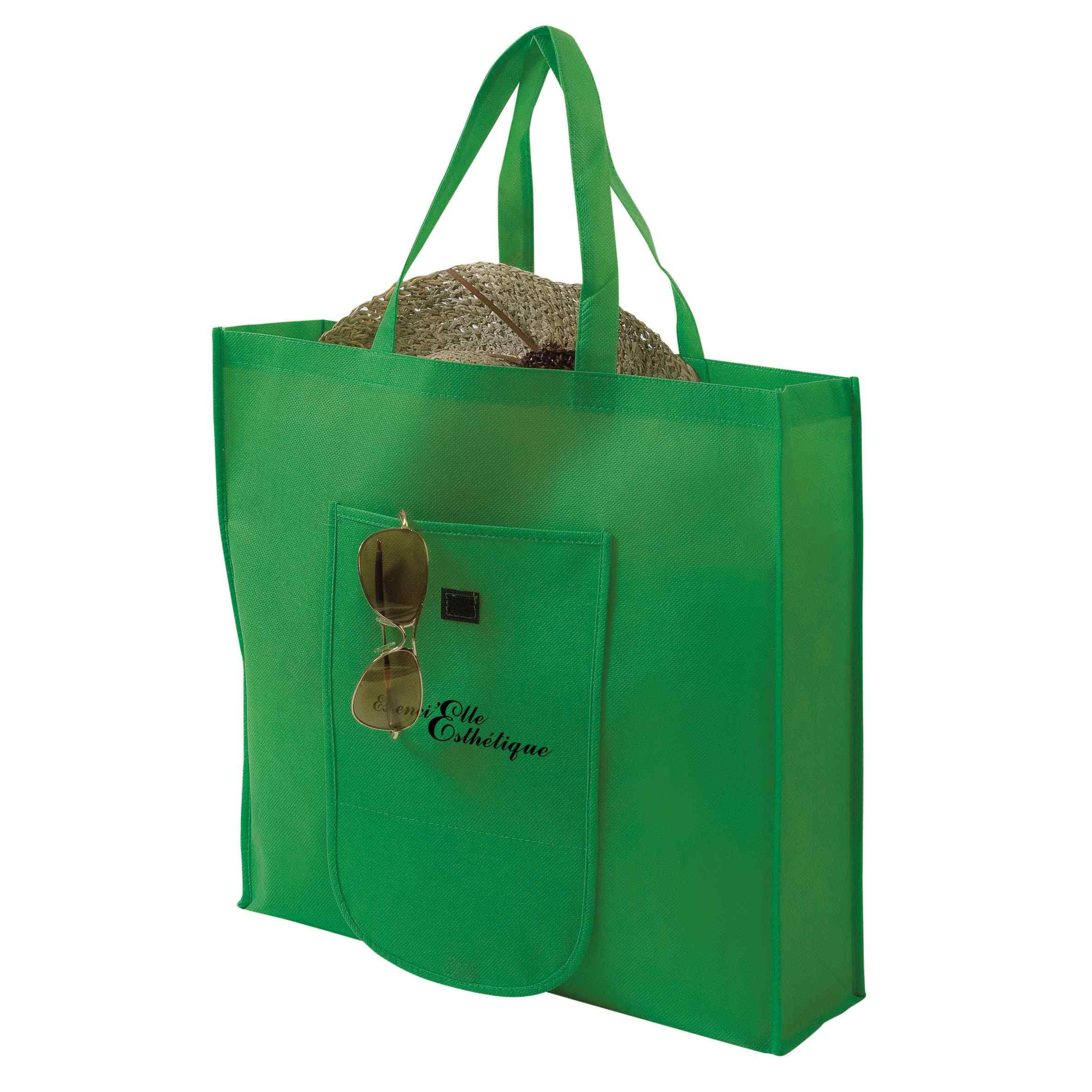 Sac shopping publicitaire pliable non tissé Pochette - Objet publicitaire