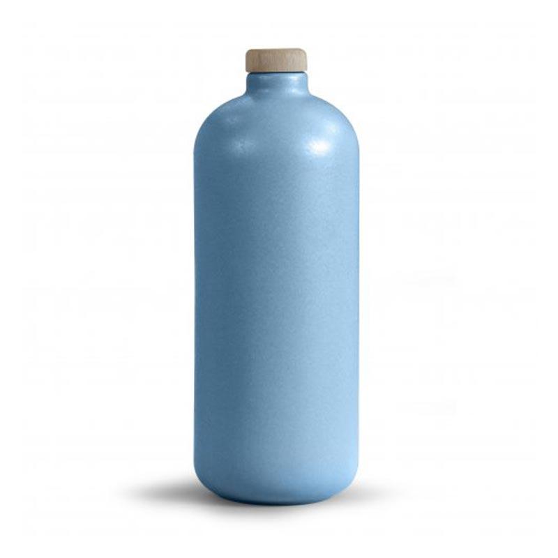 Gourde en céramique bleue