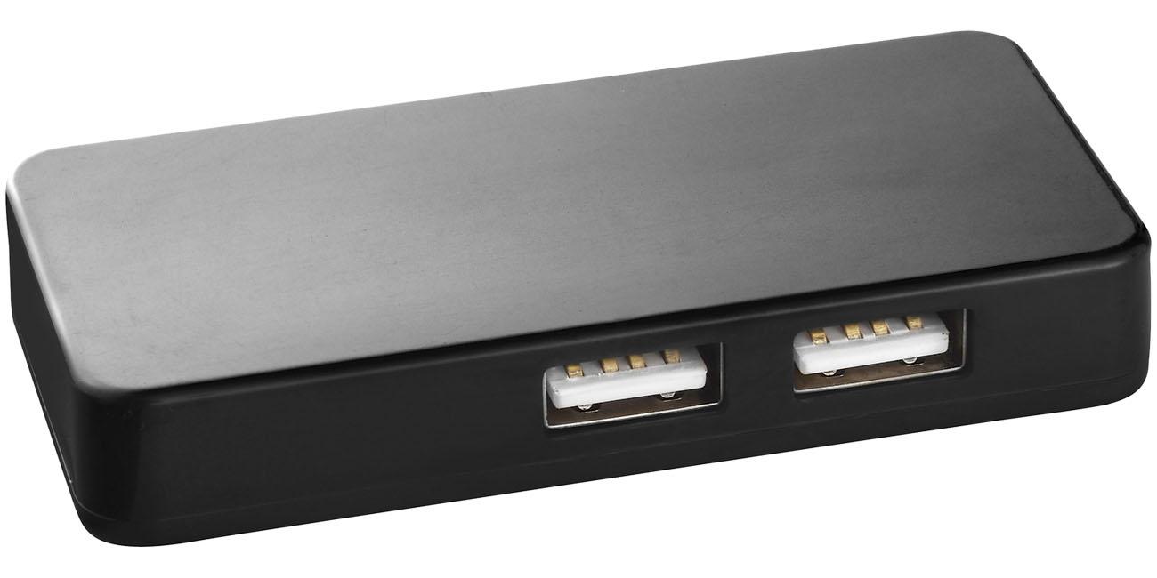Hub USB avec cable dual - accessoire high-tech personnalisé