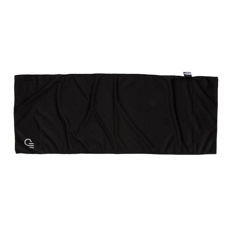 serviette de sport publicitaire coloris noir