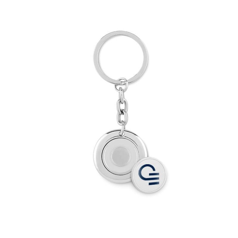 Porte-clés publicitaire avec jeton aimanté  Flat Ring