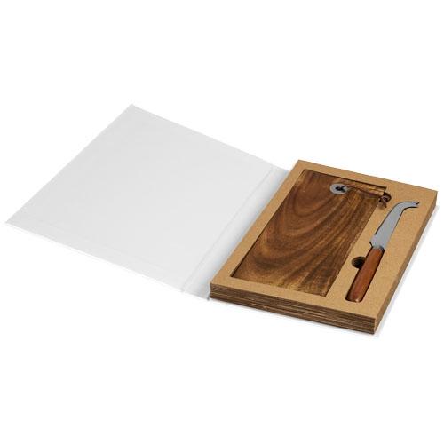 set à fromage en bois personnalisable nantes - cadeau publicitaire écolo