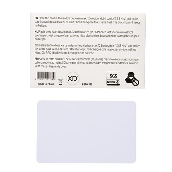 Objet publicitaire - Carte bouclier anti-RFID Shield
