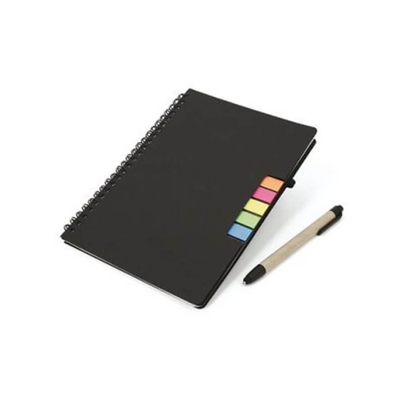 Carnet A5 personnalisable et stylo en carton recyclé Véra