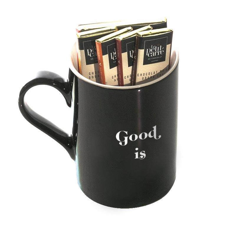 Tablette de chocolat pour accompagner un mug publicitaire
