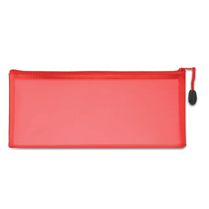 objet publicitaire - Trousse publicitaire à crayon en PVC Gran - rouge