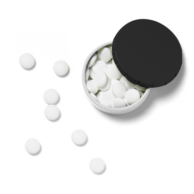 Boîte bonbons clic clac de pastilles menthe personnalisable