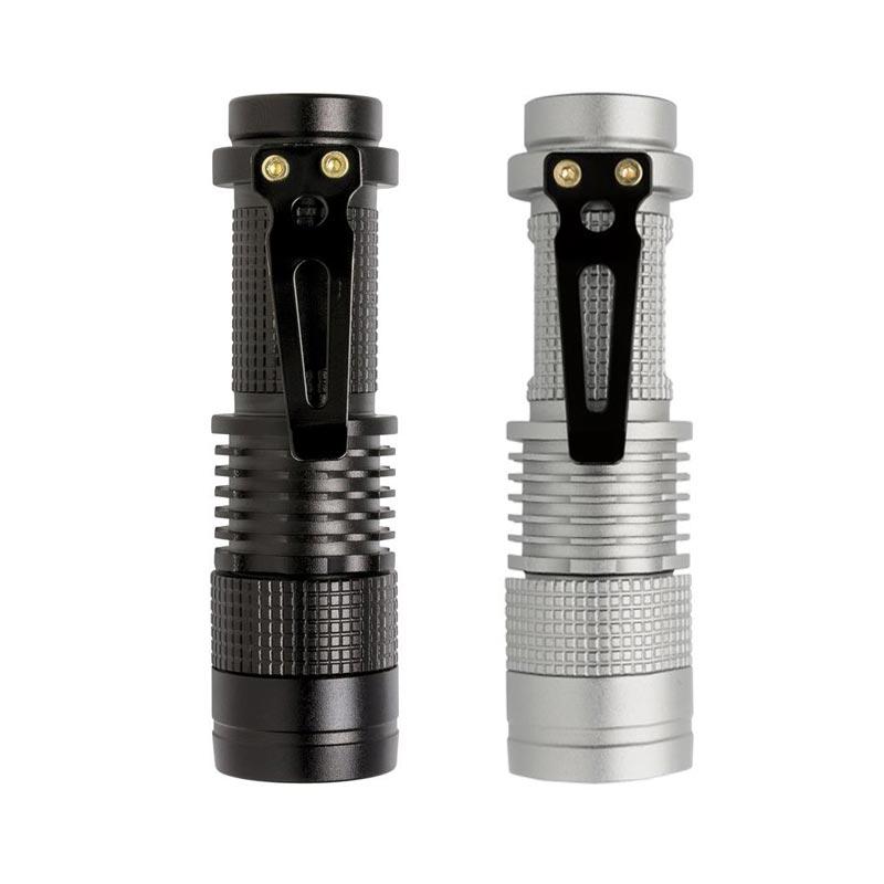 Lampe torche personnalisée Mini CREE 3W - noir, gris