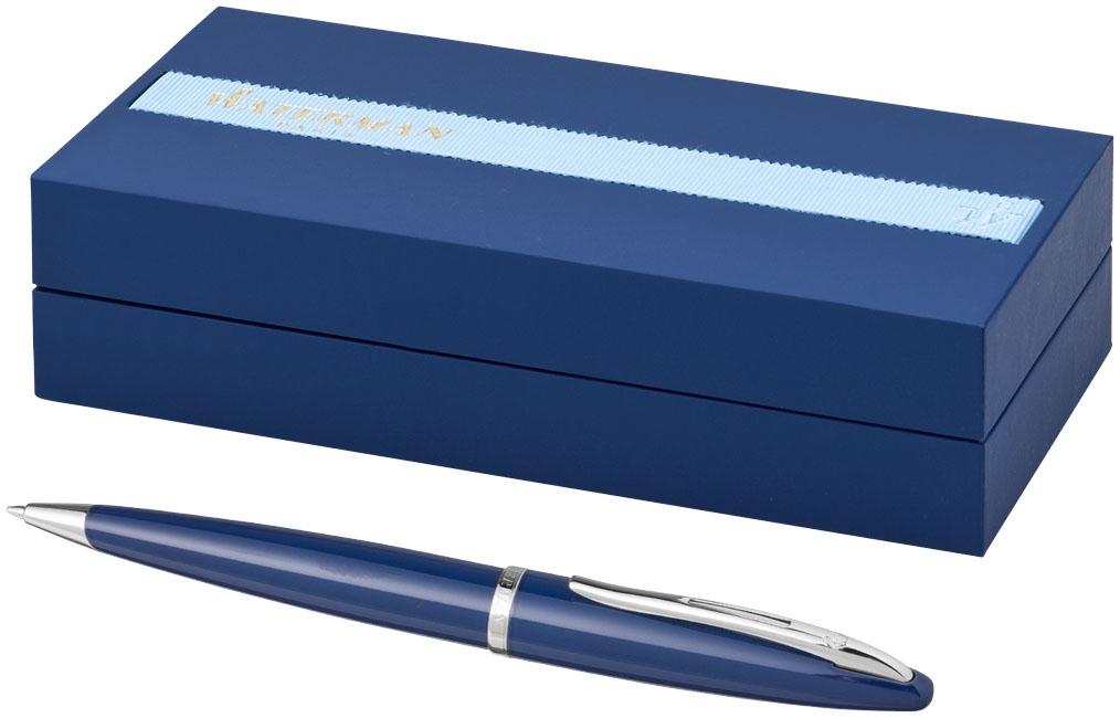 Stylo publicitaire haut de gamme - Stylo bille publicitaire Carène bleu Waterman