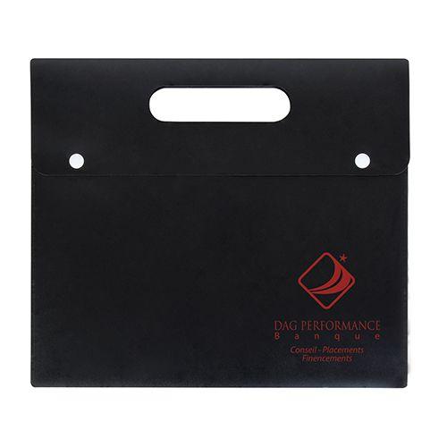 Porte-documents personnalisable  noir - valisette personnalisée Athéna