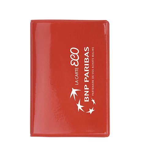 Etui cartes de crédit personnalisé Bily - Porte-cartes publicitaire rouge