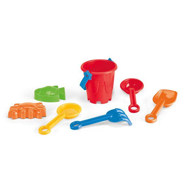 Sceau, pelles et jouets de plage Sandyland - objet publicitaire pour la plage