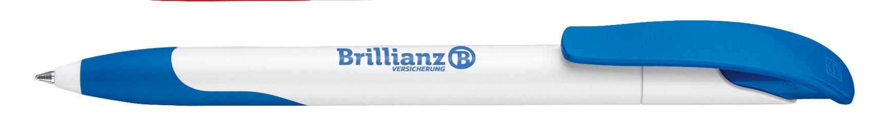 Stylo publicitaire écologique Challenger Polished avec grip fabriqué en Europe