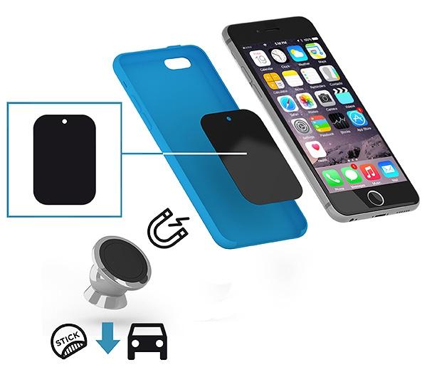 Support smartphone magnétique Chromy - Objet publicitaire