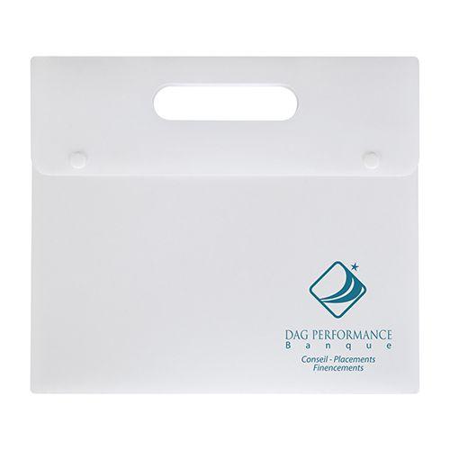 Porte-documents personnalisable blanc - valisette personnalisée Athéna