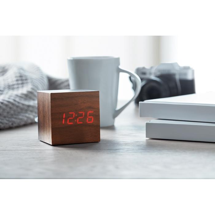Réveil publicitaire LED Buenos Aires Mini - Horloge personnalisée