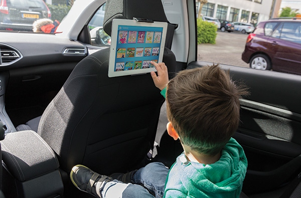 Cadeau publicitaire - Support tablette personnalisé pour siège arrière de voiture