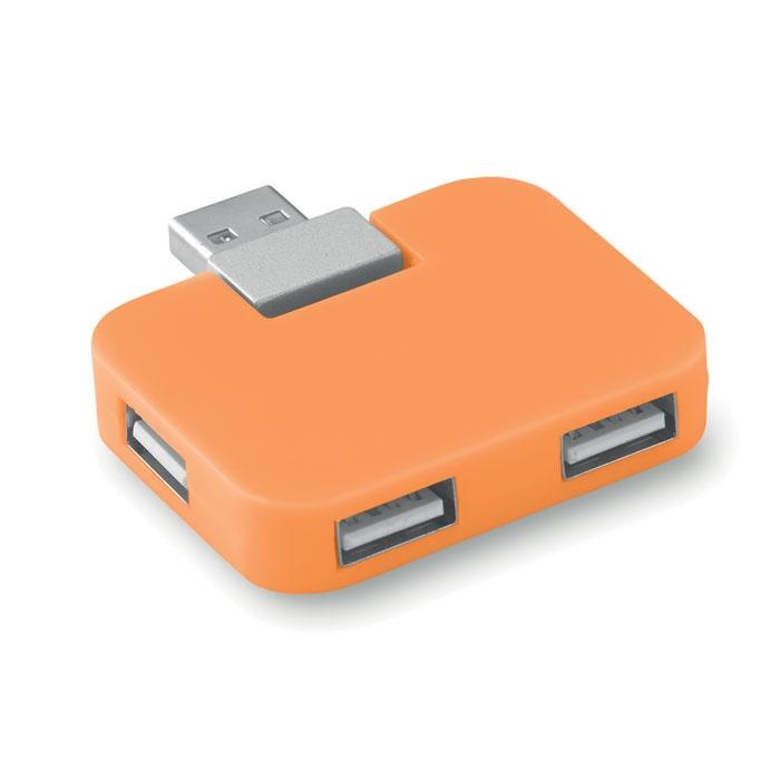 Hub publicitaire 4 ports USB square - noir