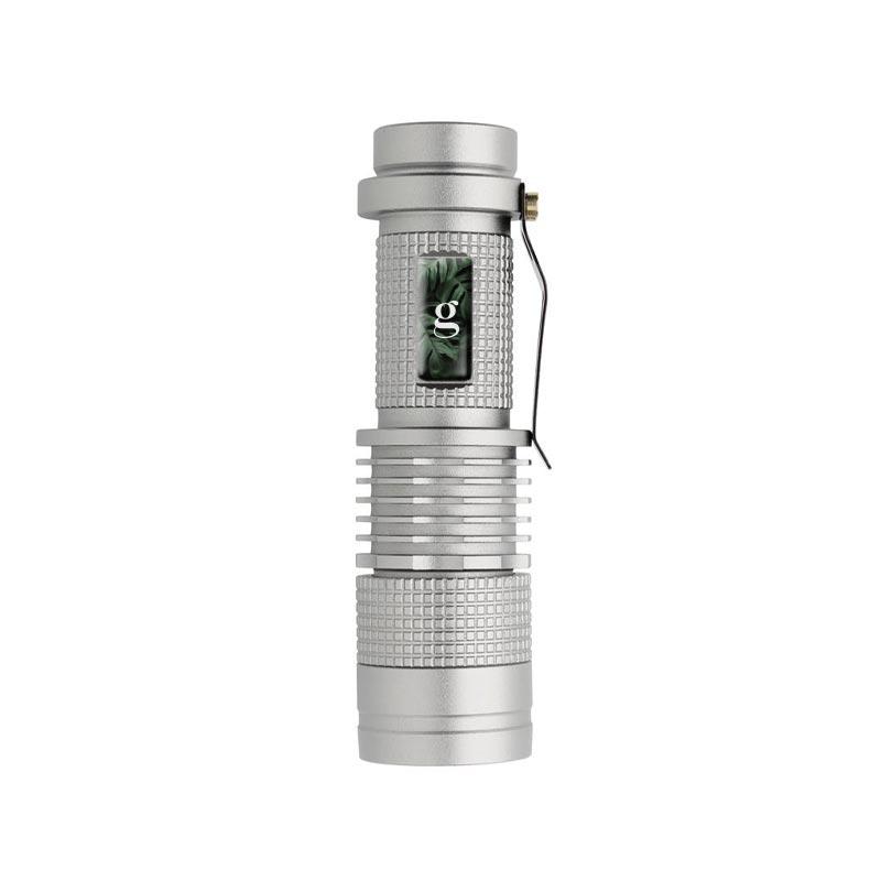 Lampe torche personnalisée Mini CREE 3W - gris