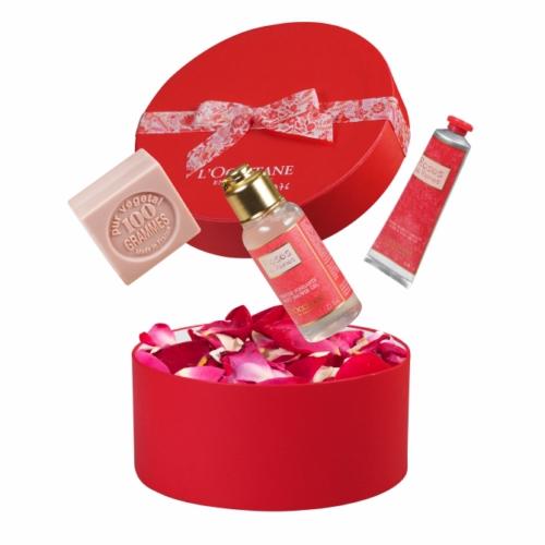 Coffret publicitaire Roses et Reines de L'Occitane en Provence - cadeau d'entreprise