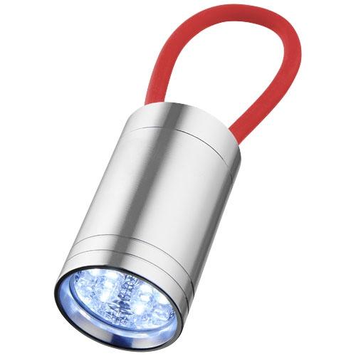 Objet publicitaire - Lampe torche publicitaire à 6 LED Vela avec dragonne lumineuse