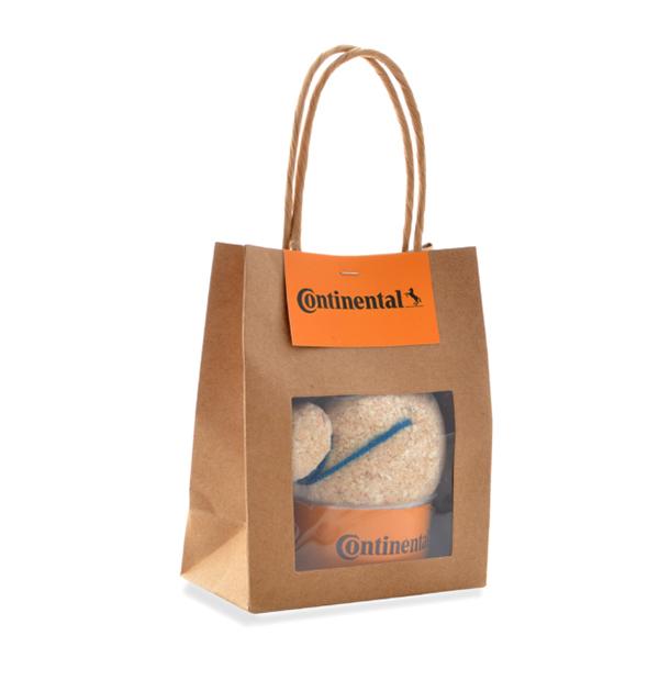 kit de plantation personnalisé - Tête en herbe avec sac kraft