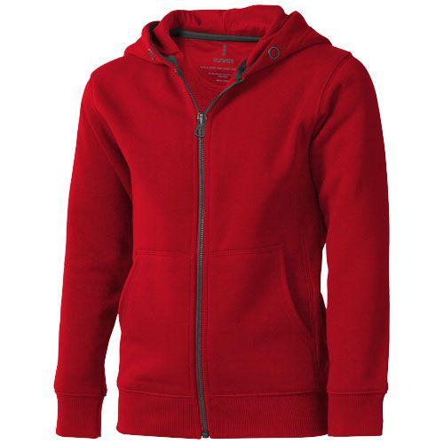 Veste à capuche enfants rouge personnalisable