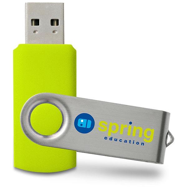 Clé USB publicitaire Swivel - Clé USB personnalisable - vert PMS 382