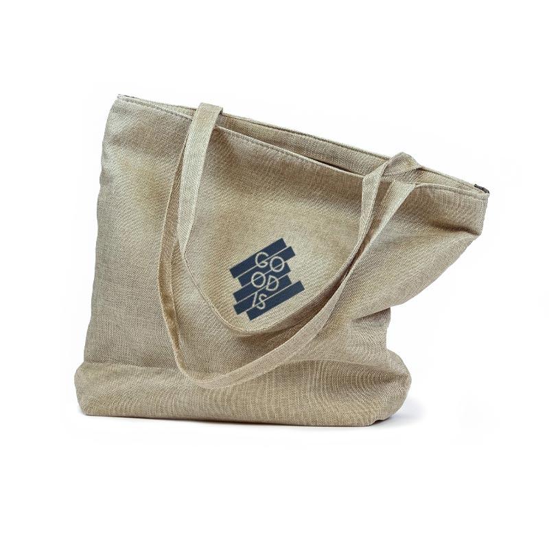 tote bag personnalisé en coton recyclé recyclo