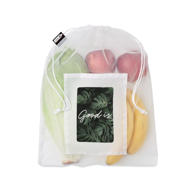 Goodies entreprise - Sac en coton et filet en rPEt Veggie