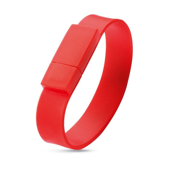 Clé USB publicitaire Silicone Wrist rouge