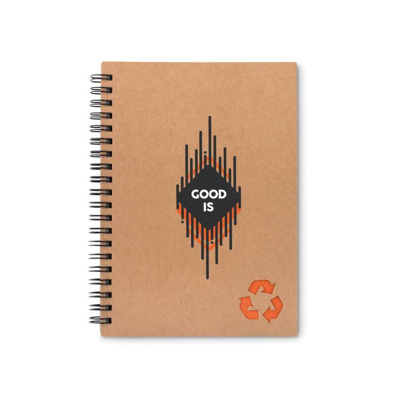 Carnet personnalisé - Cahier à spirales 70 feuilles STONEBOOK