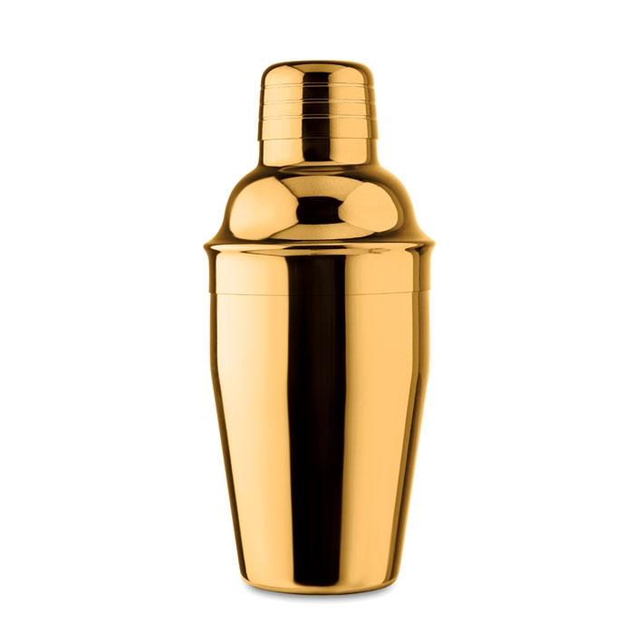 cadeau personnalisé - Shaker à cocktail doré publicitaire brillant Fizz