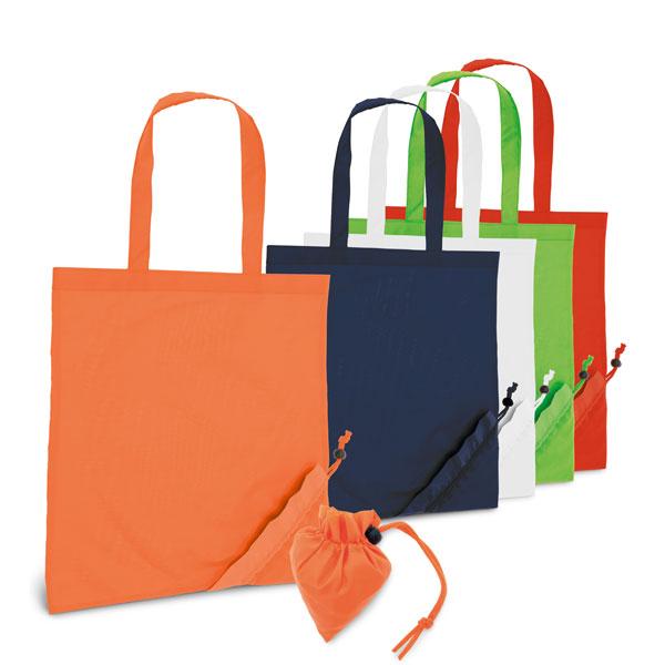 Sac shopping publicitaire Sanary orange - Sac shopping personnalisable