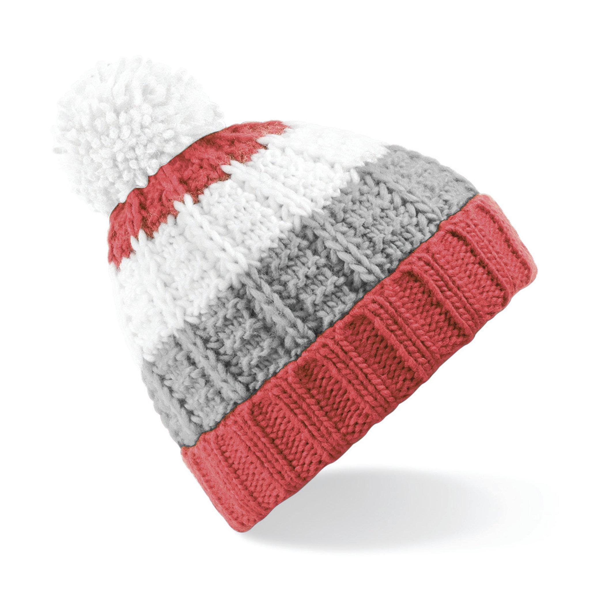 Bonnet publicitaire Chamonic noir/gris/blanc - bonnet personnalisable