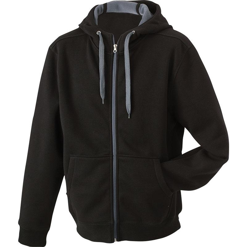 Cadeau publicitaire textile - Sweat-shirt uni personnalisé à capuche Femme Laure  - noir